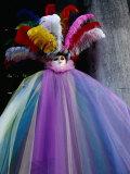 Carnivale Costume in St Mark's Square  Venice  Veneto  Italy