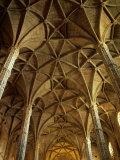 Ceiling Inside Mosteiro Dos Jeronimos  Belem District  Lisbon  Portugal
