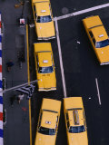 Aerial View of Taxis  New York City  USA