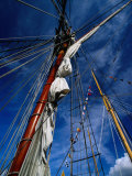 Rigging of La Recouvrance  Brest  Brittany  France