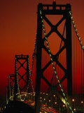 Bay Bridge from Treasure Island  San Francisco  California  USA