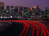 Freeway 280 and Skyline at Sunset  San Francisco  California  USA