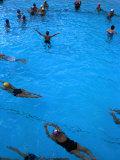 Water Aerobics in Pool at Kowloon Park  Hong Kong