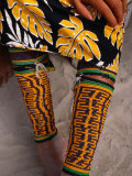 Beaded Ankle and Leg Decoration from San Blas Islands  Panama