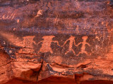 Petroglyphs  Valley of Fire State Park  Valley of Fire State Park  Nevada  USA