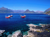 Fishing Boats with the Black Cuillin Behind  Elgol  Isle of Skye  Scotland