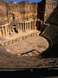 Looking Down the Steps Towards the Stage of an 11th Century Theatre  Bosra  Syria