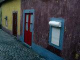 Small Painted Houses and Cobblestone Streets of Vila Do Condo  Vila Do Conde  Douro  Portugal