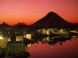 City at Sunset  Pushkar  India
