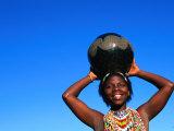 Zulu Woman Carrying Beer Pot  Zululand  South Africa