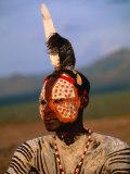 Portrait of a Karo Man with Elaborate Body Painting  Kolcho  Ethiopia