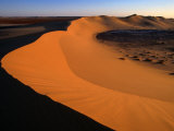 A Sand Dune Rises Out of the Sahara Desert  Ghadhames  Libya