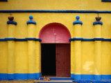 Painted Church in Santa Margarita  Quiche  Guatemala