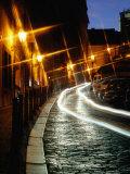 Cobble-Stoned Thunovska Street at Night  Special Effect  Prague  Czech Republic