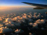 Sunrise Over Clouds from Aeroplane  Marshall Islands