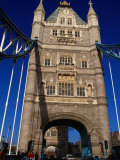 Traffic and People on the Tower Bridge - London  England