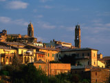 Montalcino at Sunrise  Tuscany  Italy