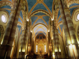 Inside St Lorenzo Cathedral  Alba  Italy