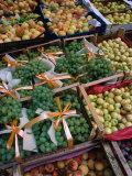 Fruit in Street Stall in Old Quarter  Ballaro  Palermo  Sicily  Italy