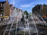 """Joy of Living"" Fountain in University Square  Rostock  Germany"