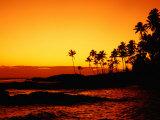 Sunset Over Paradise Beach  Upolu  Samoa  Upolu