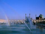 Fountain with Rainbow Outside Masjed-E Emam  Esfahan  Iran