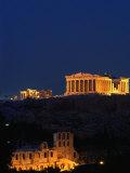 Parthenon and Acropolis from Filopappou Hill  Athens  Greece