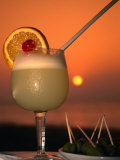 South Pacific Sunset and a Pisco Sour  Pisco  Ica  Peru