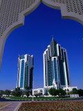 Twin Towers at Eastern End of the Corniche  Doha  Ad Dawhah  Qatar