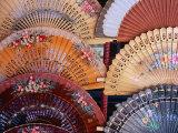 Fans at Stall  El Rastro Market  La Latina  Madrid  Spain