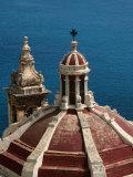 Domed Church with Maltese Cross  Valletta  Malta