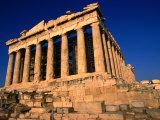 The Massive Doric Columns of the Parthenon  Athens  Attica  Greece