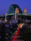 Miller's Point and the Harbour Bridge at Dusk  Sydney  Australia