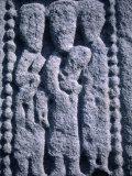 Stone Detail from 11th Century High Cross  Drumcliff  County Sligo  Ireland