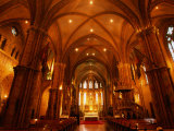 Interior of the Late 19th Century Matthias Church of Budapest  Hungary
