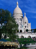 The Sacre Coeur Basilica is Located at the Top of Montmatre (Marty'R Hill) in Paris  France