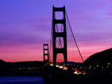 Golden Gate Bridge at Sunset  San Francisco  California  USA