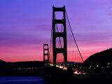 Golden Gate Bridge at Sunset  San Francisco  California  USA
