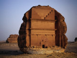 Qasr Farid Tomb  Carved from Single Large Outcrop of Rock  Madain Salah  Al Madinah  Saudi Arabia