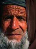 Bearded Afghan Man  Looking at Camera  Mazar-E Sharif  Afghanistan