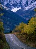 Road to Red Rock Canyon  Waterton Lakes National Park  Alberta  Canada
