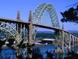 Yaquina Bay Bridge Built in 1936  Newport  Oregon  USA
