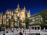 Segovia Cathedral on Plaza Major  Segovia  Castilla-Y Leon  Spain
