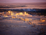 Sunset Over Ruins of Ancient City of 17th Century Arab Castle  Qala'At Ibn Maan  Syria