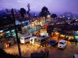 Shops and Stalls at Dusk  Kodaikanal  Tamil Nadu  India