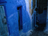 Looking Down on the Blue Alleyways of Chefchaouen  Morocco