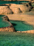 Natural Limestone Pools in Wolong Valley  Wolong Ziran Baohuqu  Sichuan  China