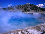 Lower Geyser Basin Yellowstone National Park  Wyoming  USA