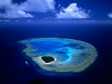 Aerial View of Island and Surrounding Reefs  Australia