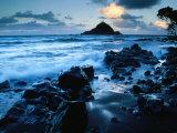 Alau Island from Koki Beach  Hana  Maui  Hawaii  USA